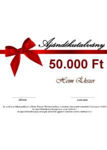 50.000 ft-os ajándékutalvány