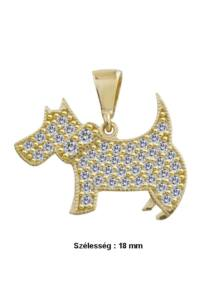 Csillogó kutya medál, arany ékszer