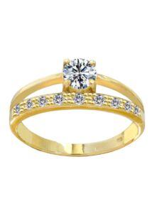 Többsoros köves gyűrű, arany ékszer ( kísérő gyűrű jelleg )