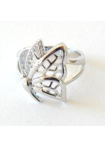 Lepkés pillangós gyűrű, ezüst ékszer AKCIÓ !!
