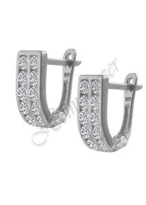 U alakú ezüst fülbevaló, ezüst ékszer