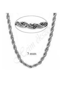 Mutatós 3 mm vastag walles nyaklánc, ezüst ékszer