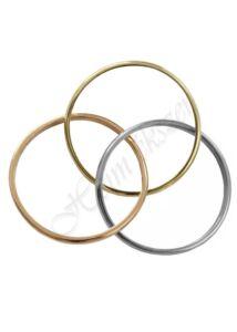 3 színű egybefonódó gyűrű Heim Ékszer webáruház