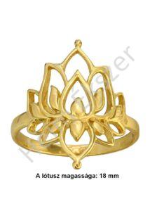 Lótusz gyűrű, arany ékszer