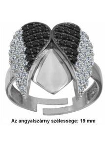Állítható angyalszárnyas gyűrű ezüst ékszer