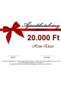20.000 Ft-os ajándékutalvány