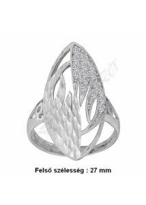 Széles mutatós gyűrű, állítható méretű ezüst ékszer
