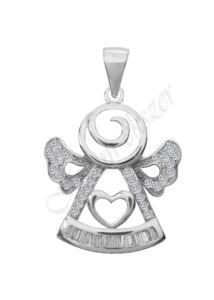 Áttört angyalka medál, ezüst ékszer
