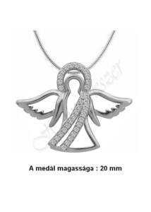 Védelmező angyal medál nyaklánccal, ezüst ékszer több hosszúságban
