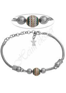 Angyalkás Pandora szerű karkötő, ezüst ékszer