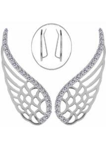 Angyalszárny fülékszer, védelmező ezüst ékszer