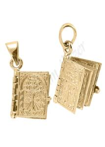 Arany biblia medál, arany ékszer ( válaszható színben )