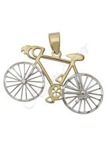Arany bicikli, kerékpár medál, mutatós arany ékszer