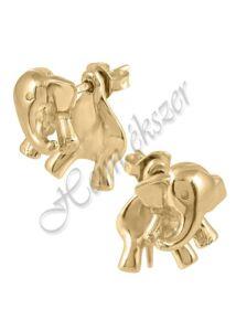 Arany elefánt fülbevaló, arany ékszer