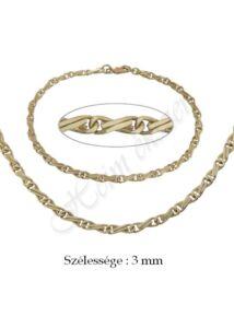 H-Scharlesz nyaklánc, karlánc garnitúra, arany ékszer