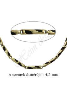 Arany, kaucsuk nyaklánc, mutatós arany ékszer