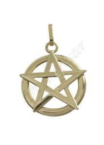 Pentagramma medál, fehér arany ékszer