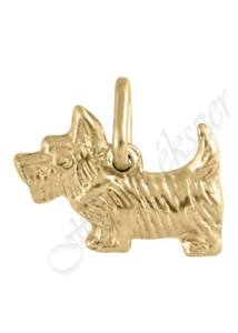 Arany kutya medál,  westie kutya medál, arany ékszer