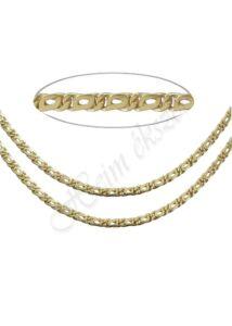 Tömör arany sharlesz nyaklánc, arany ékszer több méretben