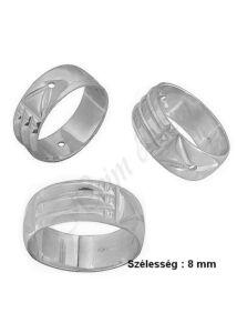 Atlantiszi gyűrű, ezüst ékszer minden méretben ( 8 mm széles )