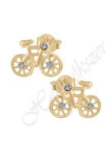 Arany bicikli fülbevaló, arany ékszer