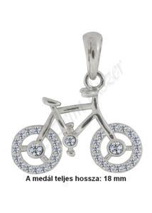 Bicikli, kerékpár ezüst medál, ezüst ékszer.
