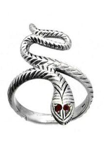 Ezüst ékszer, kígyó gyűrű