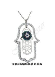 Fatima keze ( hamza ) védelmező ezüst medál, nyaklánc ezüst ékszer