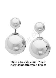 Dupla gömb fülbevaló, Dior stílushoz hasonló törzsi ( tribal ) fülbevaló