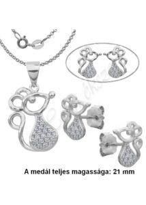 Egérke ékszergarnitúra, ezüst ékszer