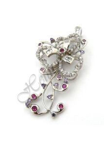 Különleges egyedi ezüst virág medál, ezüst ékszer