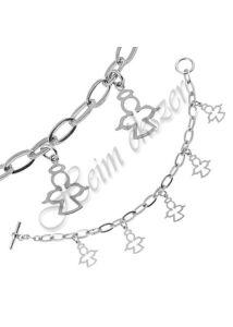 Angyalkás védelmező ezüst szimbólum karkötő