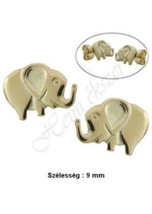 Elefánt fülbevaló, szerencsehozó arany ékszer