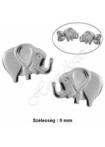 Elefánt fülbevaló, fehér arany ékszer