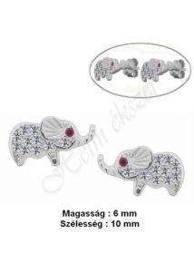 Elefánt fülbevaló, ezüst szimbólum ékszer