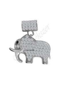Elefánt medál, mutatós szerencsehozó ezüst ékszer