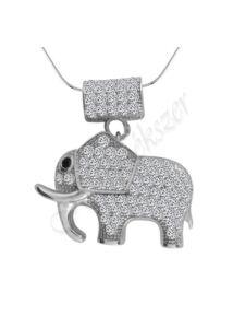 Szerencsehozó elefánt medál nyaklánccal, ezüst ékszer AKCIÓ