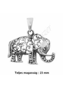 Indiai elefánt medál, szerencsehozó ezüst ékszer