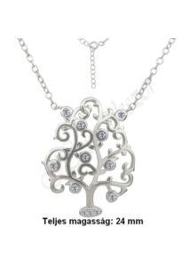 Életfa-világfa medál, nyaklánc garnitúra, ezüst ékszer