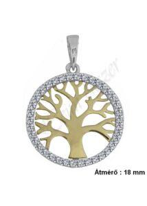 Életfa medál szimbólum ékszer, arany ékszer