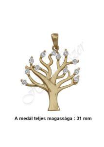 Életfa medál, arany szimbólum ékszer