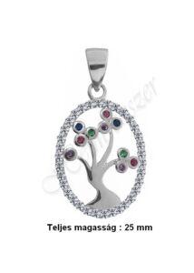 Életfa medál, különlegesen szép ezüst ékszer