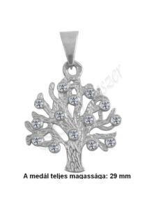 Életfa köves medál , ezüst ékszer