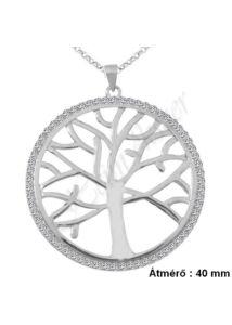 Ősi nagy életfa medál nyaklánccal, ezüst ékszer