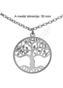Életfa medál, nyaklánc garnitúra, ezüst ékszer hosszú ( 60 cm ) nyaklánccal