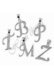 Ezüst ékszer, ezüst betű medál A, B, C, D, E, F...
