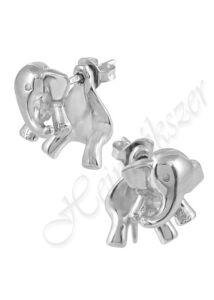 Ezüst elefánt fülbevaló, ezüst ékszer