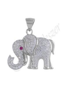 Elefánt medál, ezüst ékszer