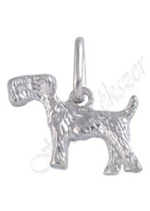 Ezüst foxi kutya medál, foxterrier, ezüst ékszer