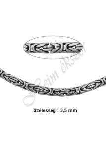 Ezüst király lánc 3,5 mm széles, ezüst ékszer több hosszúságban